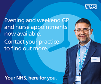 Evening and weekend GP and Nurse appointments now available. Contact your practice to find out more.
